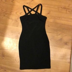 gothic body con pentagram tight S bandage dress